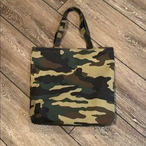 NWT JCREW Camo Canvas Tote Bag